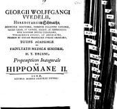 Propempt. inaug. de hippomane: Volume 2