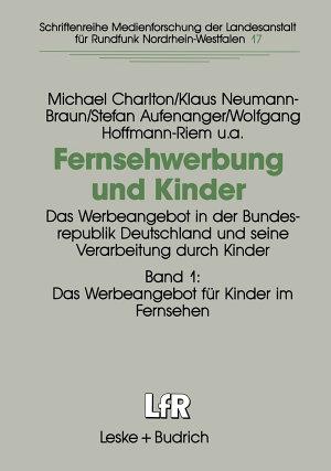Fernsehwerbung und Kinder PDF