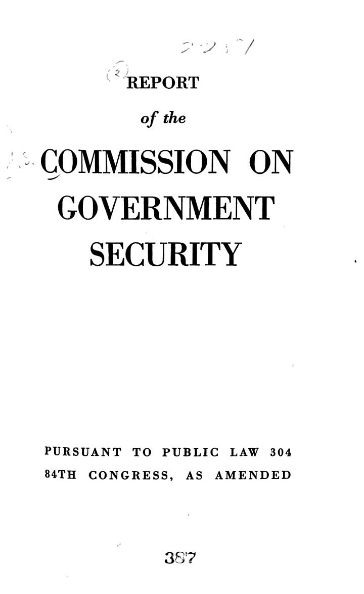 Report Pursuant to Public Law 304, 84th Congress