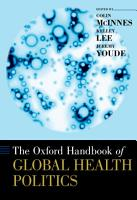 The Oxford Handbook of Global Health Politics PDF