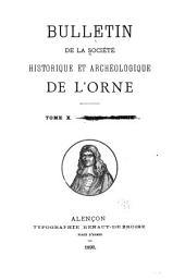 Bulletin de la Société historique et archéologique de l'Orne: Volume10