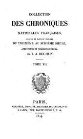 Les chroniques de Jean Froissart: Volume7
