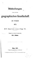 Inhaltsverzeichnis der Ver  ffentlichungen der K K  Geographischen Gesellschaft  1857 1907  PDF