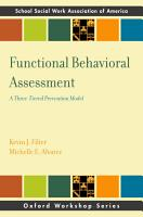 Functional Behavioral Assessment PDF