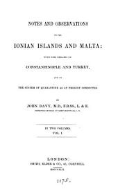 Notes and observations on the Ionian islands and Malta