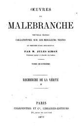 Oeuvres de Malebranche: Volume4