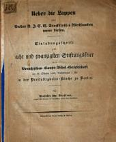 Ueber die Lappen und Pastor N. J. C. V. Stockfleth's Wirksamkeit unter diesen: Einladungsschrift zur achtundzwanzigsten Stiftungsfeier der Preußischen Haupt-Bibel-Gesellschaft am 12. Oktober 1842 ... zu Berlin