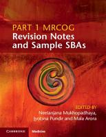 Part 1 MRCOG Revision Notes and Sample SBAs PDF