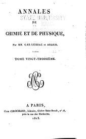 Annales de chimie et de physique: Volume23