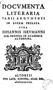 Documenta literaria varii argumenti