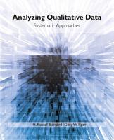 Analyzing Qualitative Data PDF