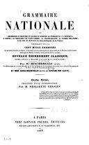 Grammaire nationale ou grammaire de Voltaire  de Racine  de Bossuet