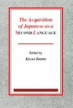 The Acquisition of Japanese as a Second Language