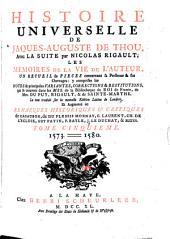 Histoire universelle de Jacques Auguste de Thou: Volume5