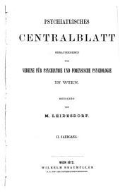 Psychiatrisches Centralblatt: Band 2