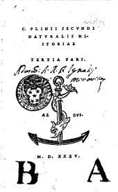 C. Plinii Secvndi Natvralis historiae: Volume 3