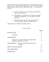 Defending the United States from nuclear fire: a resume' of the final report of the National Fire Coordination Study