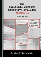 The Political Warfare Executive Syllabus Volume II PDF