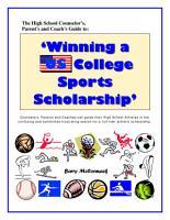 Winning a US College Sports Scholarship PDF