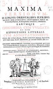 Biblia maxima: versionum ex linguis orientalibus pluribus sacris ms. codicibus ... collectarum : earumque concordia cum vulgata et eius expositione litterali