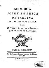 Memoria sobre la pesca de Sardina en las costas de Galicia