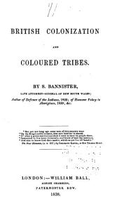 British colonization and coloured tribes