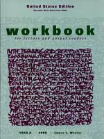 Workbook for Lectors  2008 RNAB    Gospel Readers Year A PDF