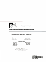 China  Long term Development Issues and Options PDF