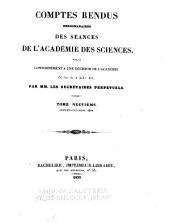 Comptes rendus hebdomadaires des séances de l'Académie des sciences: Volume9
