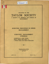 Bulletin of the Taylor Society: Volume 4, Issue 3