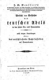 Versuch einer Geschichte des teutschen Adels in den hohen Erz- und DomCapiteln