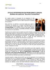 """ETICA E INTERVENCION EN PROBLEMAS CLINICOS: Anàlisis de la película """"Secretos Compartidos"""""""