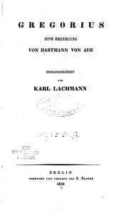 Gregorius: eine Erzählung von Hartmann von Aue
