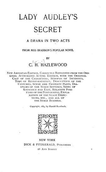 Lady Audley s Secret PDF