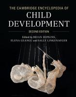 The Cambridge Encyclopedia of Child Development PDF