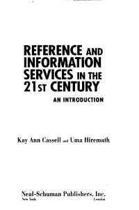 Reference and Information Services in the 21st Century PDF