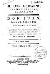 Don Giovanni: dramma giocoso in due atti