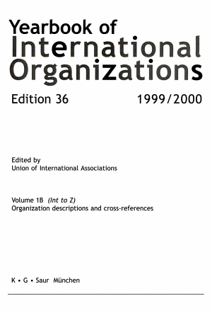 Yearbook of International Organizations Vol 1B  Int Z  1999 2000 PDF