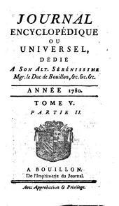 Journal encyclopedique ou Universel: Volume5,Partie2