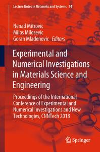 Experimental and Numerical Investigations in Materials Science and Engineering PDF