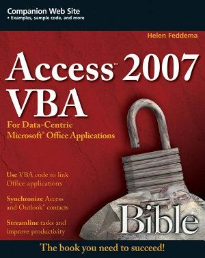 Access 2007 VBA Bible PDF