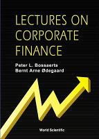 Lectures on Corporate Finance PDF