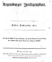 Regensburger Intelligenzblatt: Band 1