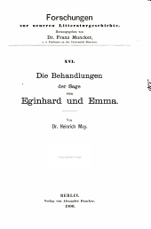 Forschungen zur neueren literaturgeschichte: Bände 16-20