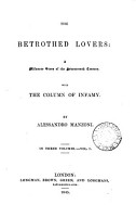 The betrothed lovers  with The column of infamy PDF