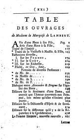 Oeuvres de la marquise de Lambert