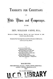 Thoughts for Christians on Bible Wines and Temperance     Book