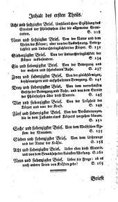 Briefe an eine deutsche Prinzessinn über verschiedene Gegenstände aus der Physik und Philosophie: Band 1