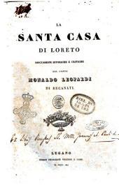 La Santa Casa di Loreto discussioni istoriche e critiche del conte Monaldo Leopardi