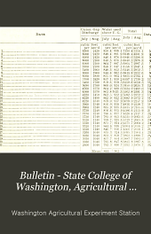 Bulletin - State College of Washington, Agricultural Experiment Station: Issues 60-101